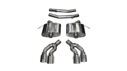 "Corsa 2.75"" Dual Rear Exit Axle-Back Exhaust System with Twin 4.0"" Tips 2016-2019 Cadillac CTS-V Sedan 6.2L V8 - Tune Time Performance"