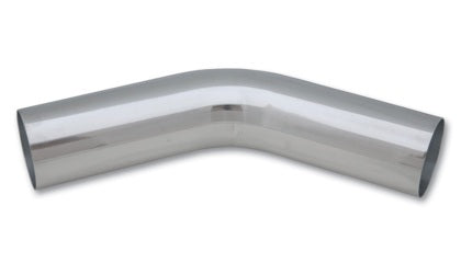 Vibrant 3in O.D. Universal Aluminum Tubing (45 degree bend) - Polished