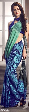 ufeffDigital Print Saree 7508 | Designer Studio London - ds-london.myshopify.com