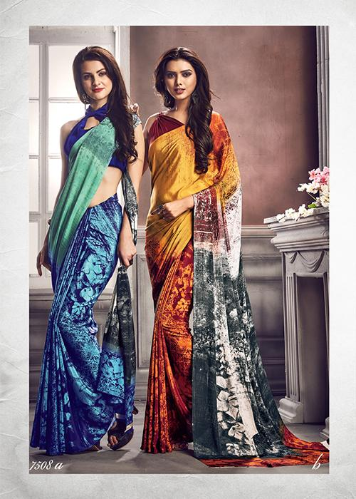 Digital Print Saree 7508