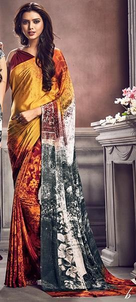 Digital Print Saree 7508 - Designer Studio London