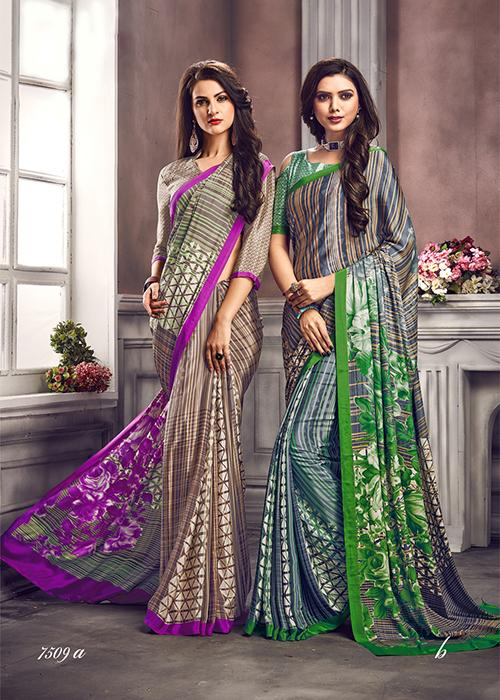 Digital Print Saree 7509 | Designer Studio London - ds-london.myshopify.com