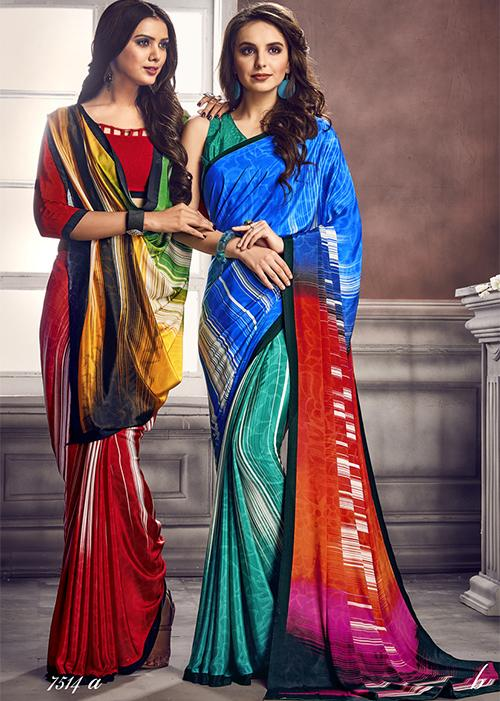 Digital Print Saree 7514