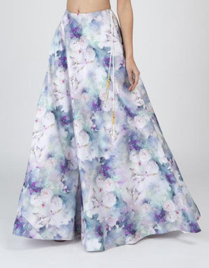 Humming Bird Print Skirt - Designer Studio London