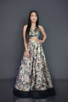 Vintage Rose Tuxedo 3-piece Lehenga | Designer Studio London - ds-london.myshopify.com