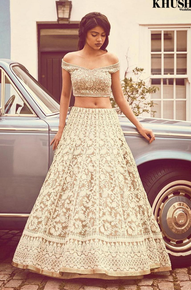 Vintage Chic Mint Lehenga SIZE 14 and 16 available in stock | Designer Studio London - ds-london.myshopify.com