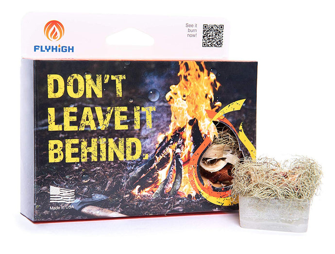 Fly High Premium Waterproof Fire Starting Cubes, Burns Wet Kindling,Survival, Camping,(72-Pack)