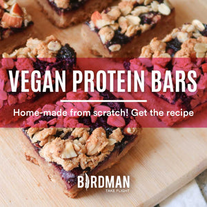 Vegan Protein Bars - Almonds & Cherry Jam