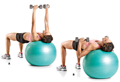 Chest Press On Stability Ball