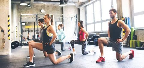 Group Exercising - Lunges