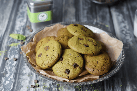Vegan Matcha & Chocolate Chips Cookies
