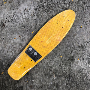 "PENNY - 22"" Yellow/Red Swirl Deck"