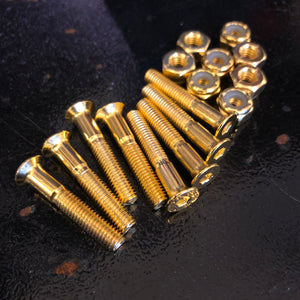 "THESPEAKEASY - Gold 1/18"" Skateboard Hardware"