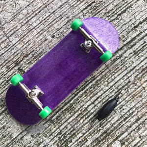 WHEEL LOVE - Purple/Green Complete Wooden Fingerboard