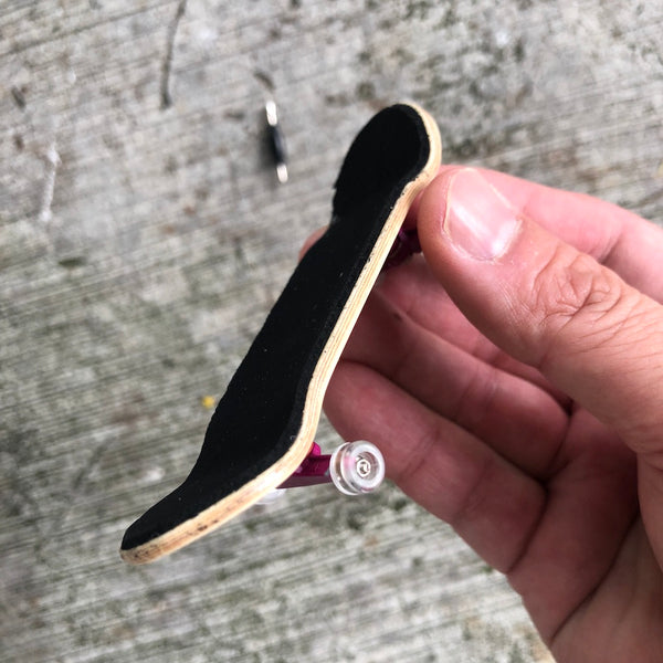 WHEEL LOVE - Raw/Purple Complete Wooden Fingerboard