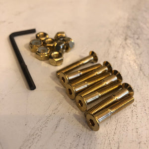 "THESPEAKEASY - Gold 1 1/8"" Skateboard Hardware"