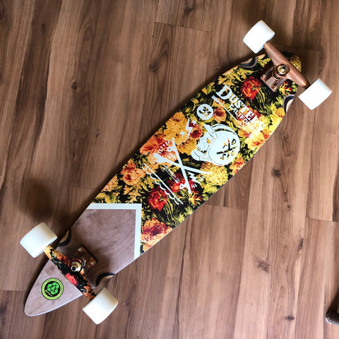 "DUSTER - Moto Roses 37"" Pintail Complete Longboard"