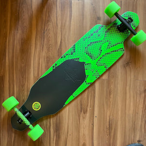 "DUSTERS - Channel Snakeskin Green 38"" Complete Longboards"