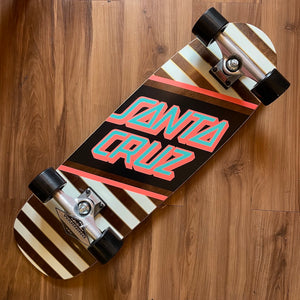 "SANTA CRUZ - Street Skate Stripe/Black 29.05"" Cruiser Skateboard"