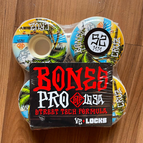 BONES - Cruz Benna Vida Street Tech Formula 52mm/103a V2 Locks Skateoard Wheels