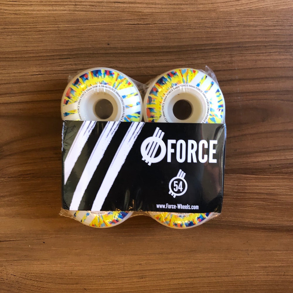 FORCE - Tie Dye Slash 54mm/101a Skateboard Wheels