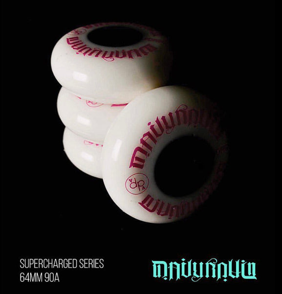 DAILY ROLLIN - The Supercharged 64mm/90a Hot Pink Aggressive Inline Skate Wheels