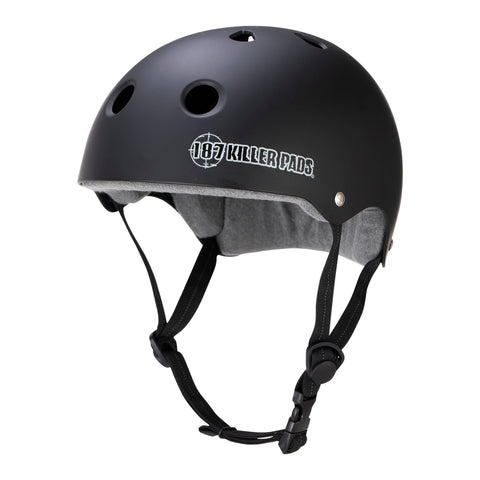 187 KILLER PADS - Pro Skate Helmet With Sweatsaver Liner (Matte Black)