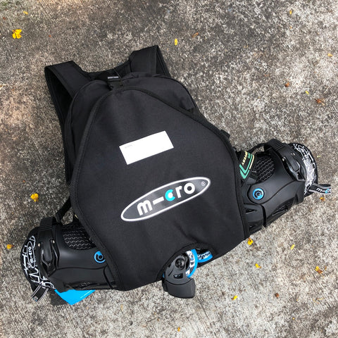 MICRO - Kids Inline Skate Backpack (Black) - Wheel Love Skateshop