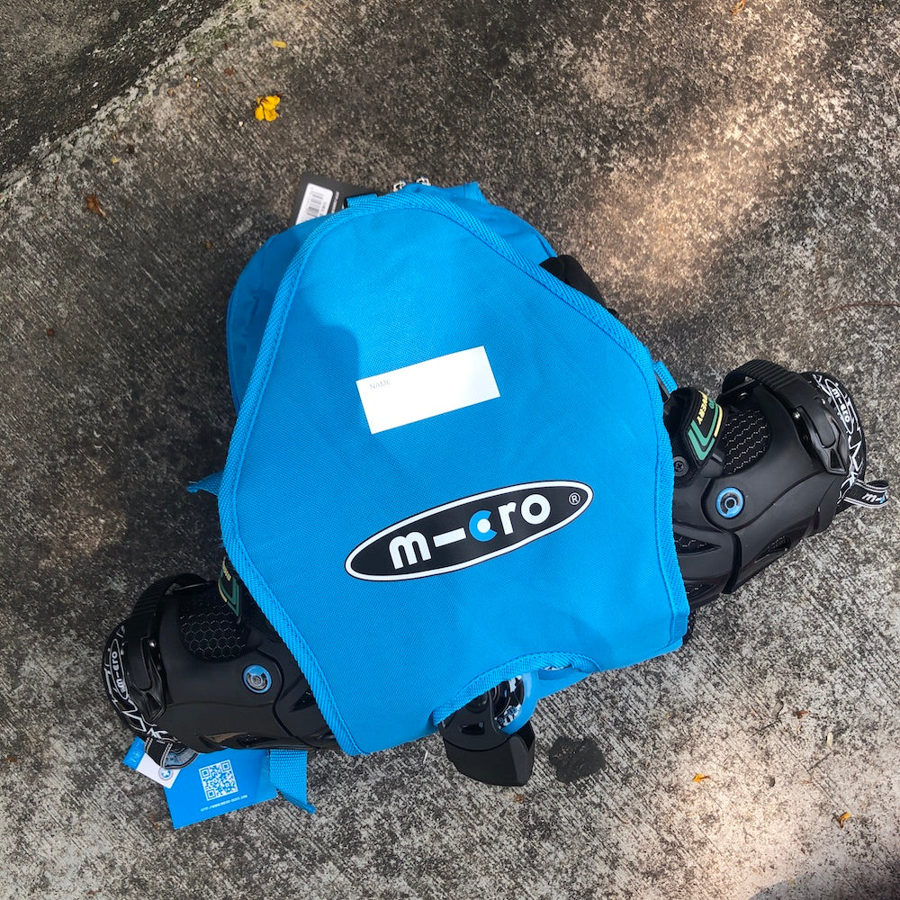 MICRO - Kids Inline Skate Backpack (Blue) - Wheel Love Skateshop