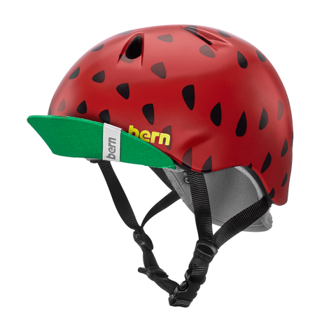 BERN - Nina (Satin Red Strawberry) Kids Helmet
