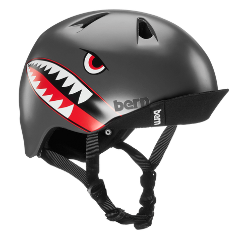 BERN - Nino (Satin Grey Flying Tiger) Kids Helmet