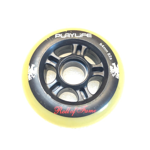 PLAYLIFE - 84mm / 82a Roll-Of-Fame Inline Skate Wheels - Wheel Love Skateshop