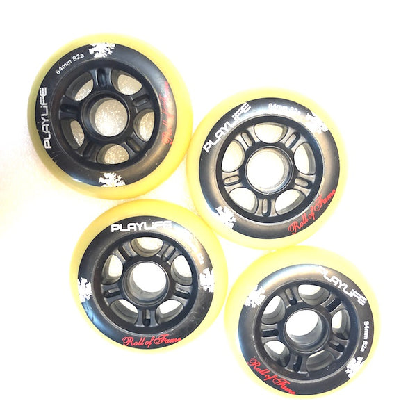 PLAYLIFE - 84mm / 82a Roll-Of-Fame Inline Skate Wheels