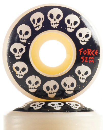 FORCE - 10 Skulls 52mm/101a Skateboard Wheels