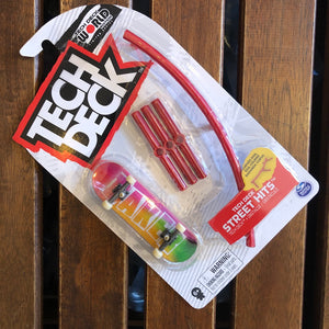 TECHDECK - Baker Street Hit Plastic Fingerboard & Obstacle Set