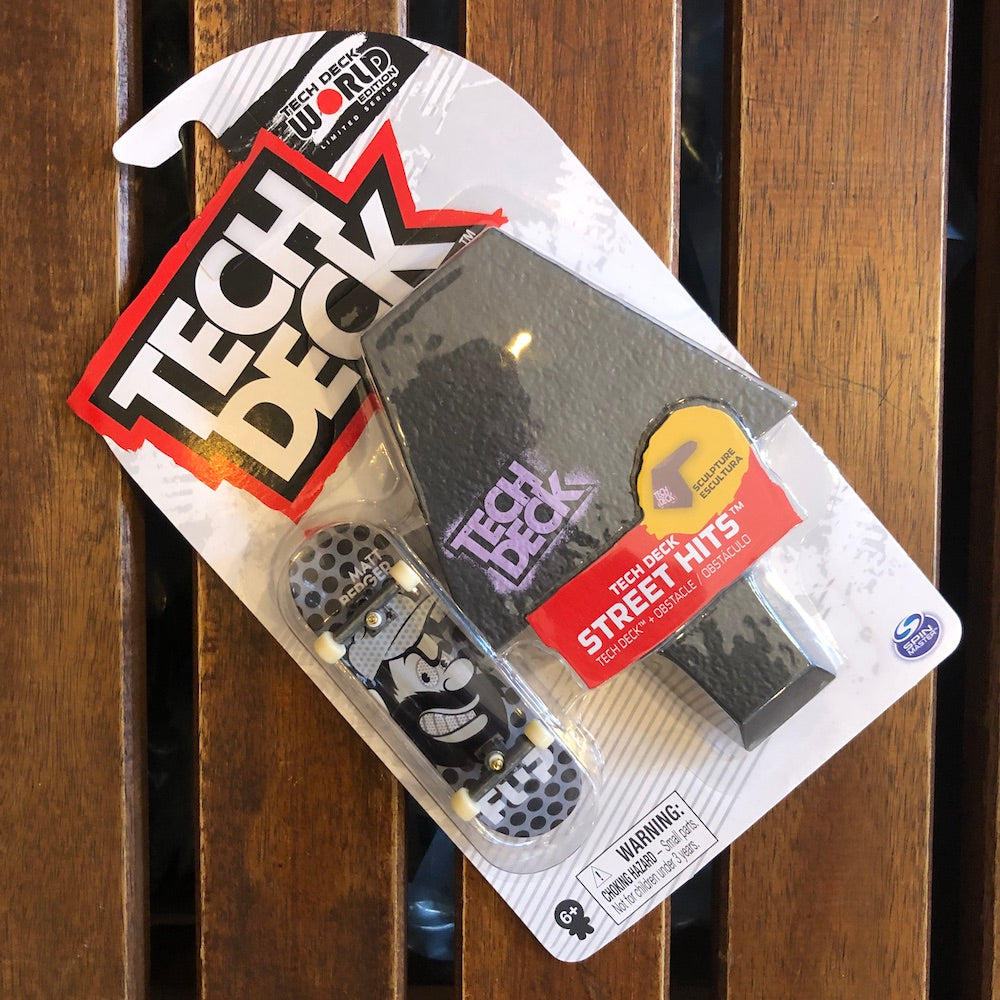 TECHDECK - Flip Street Hits Plastic Fingerboard & Obstacle Set