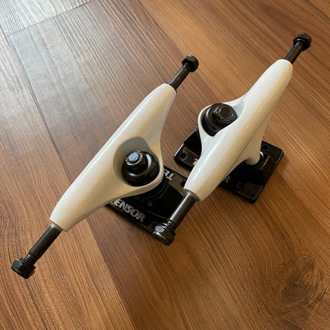 TENSOR - Alloy Black & White Skateboard Trucks