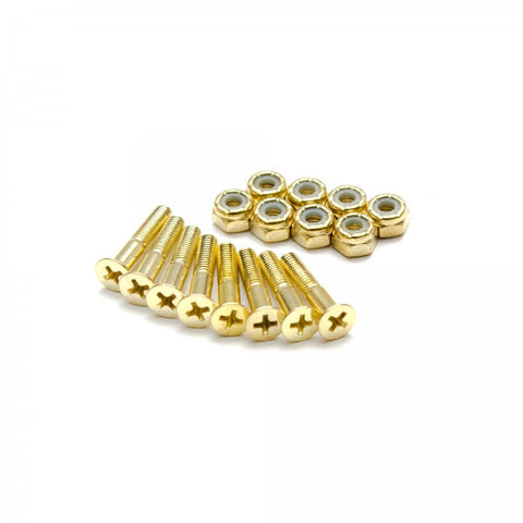 THESPEAKEASY - Gold Phillips Skateboard Hardware - Wheel Love Skateshop