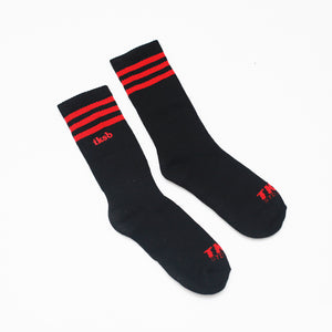 TKSB - 3 Stripes Black Socks - Wheel Love Skateshop