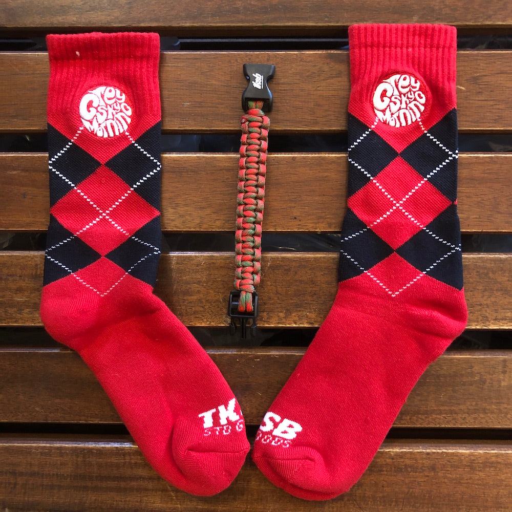 TKSB - Grey Sky Morning Red Socks