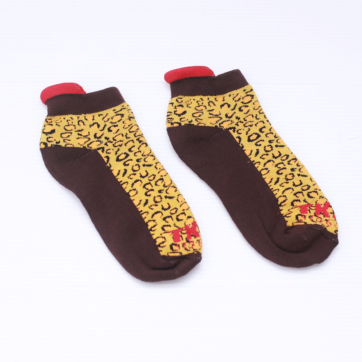TKSB - Leopard Ankle Socks - Wheel Love Skateshop
