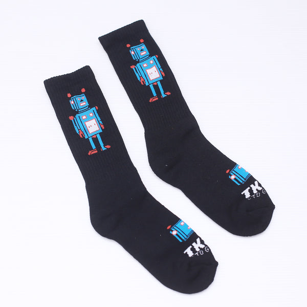 TKSB - Robot Black Socks - Wheel Love Skateshop