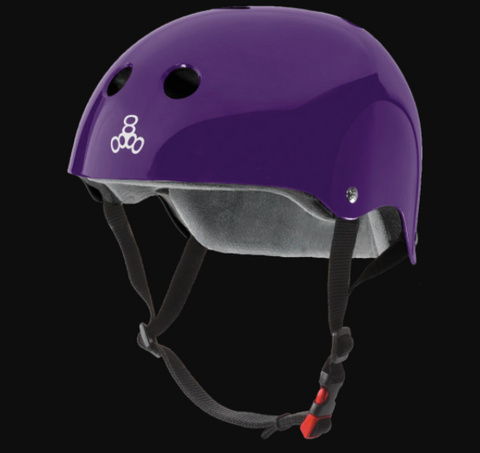 TRIPLE 8 - The Certified Sweatsaver (Glossy Purple) Helmet