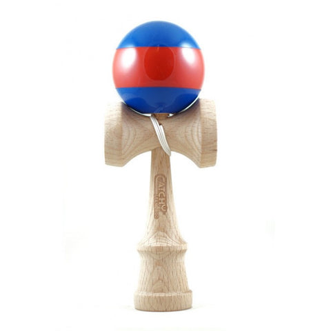 CATCHY - Catchy Standard (Blue/Red) Wooden Kendama - Wheel Love Skateshop