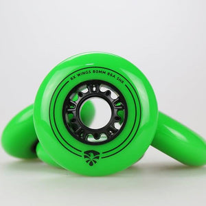 FLYING EAGLE - RX Wings Green 80mm / 86a Inline Skate Wheels - Wheel Love Skateshop