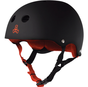 TRIPLE 8 - Sweatsaver (Black Rubber / Red) Helmet