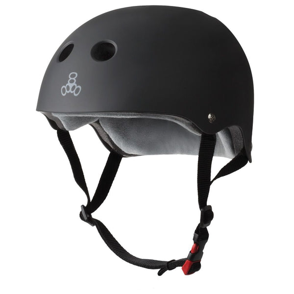 TRIPLE 8 - The Certified Sweatsaver (Black Rubber) Helmet