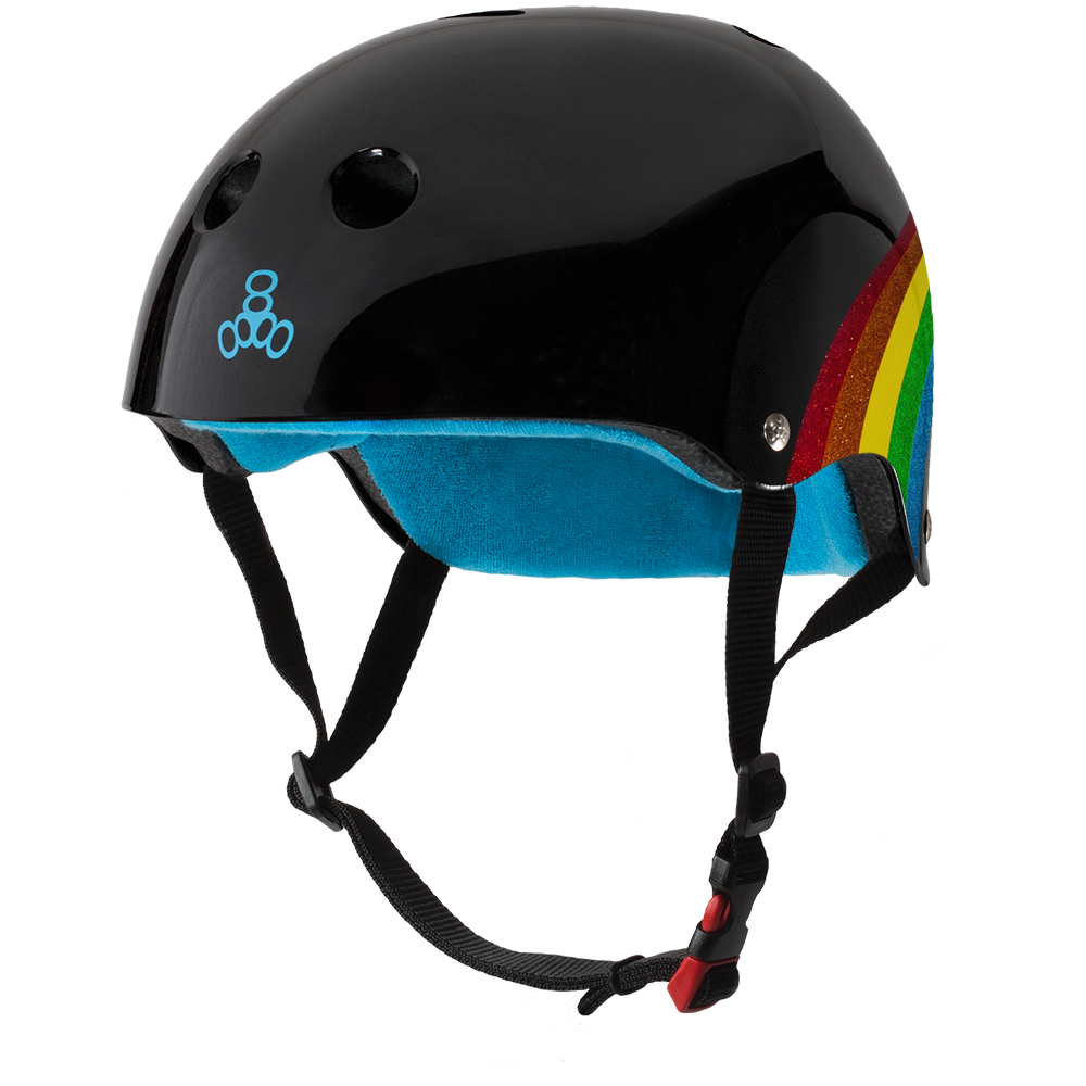 TRIPLE 8 - The Certified Sweatsaver (Rainbow Sparkle, Black) Helmet