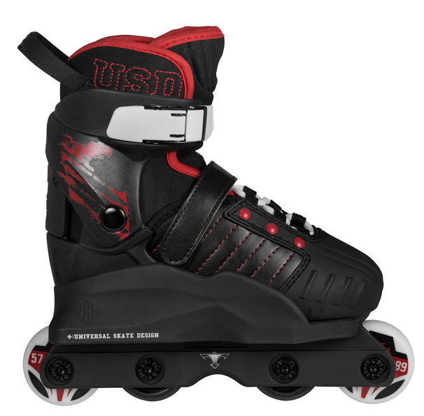 USD - Transformers (Black/Red) Kids Adjustable Aggressive Inline Skates