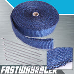 Universal Blue Heat Wrap with Stainless Steel Zip Ties